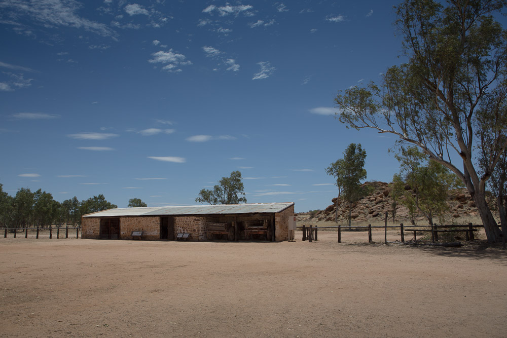Carriage house by the old telegraph station, Alice Springs