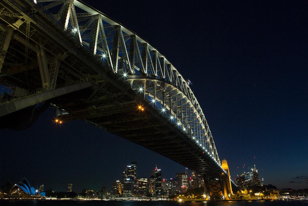 Harbour bridge by night, Sydney