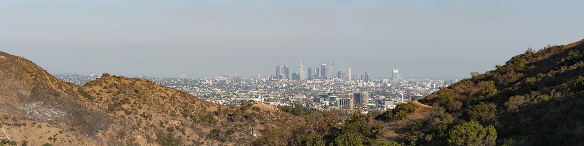 Panorama from the Hollywood Bowl Overlook, CA