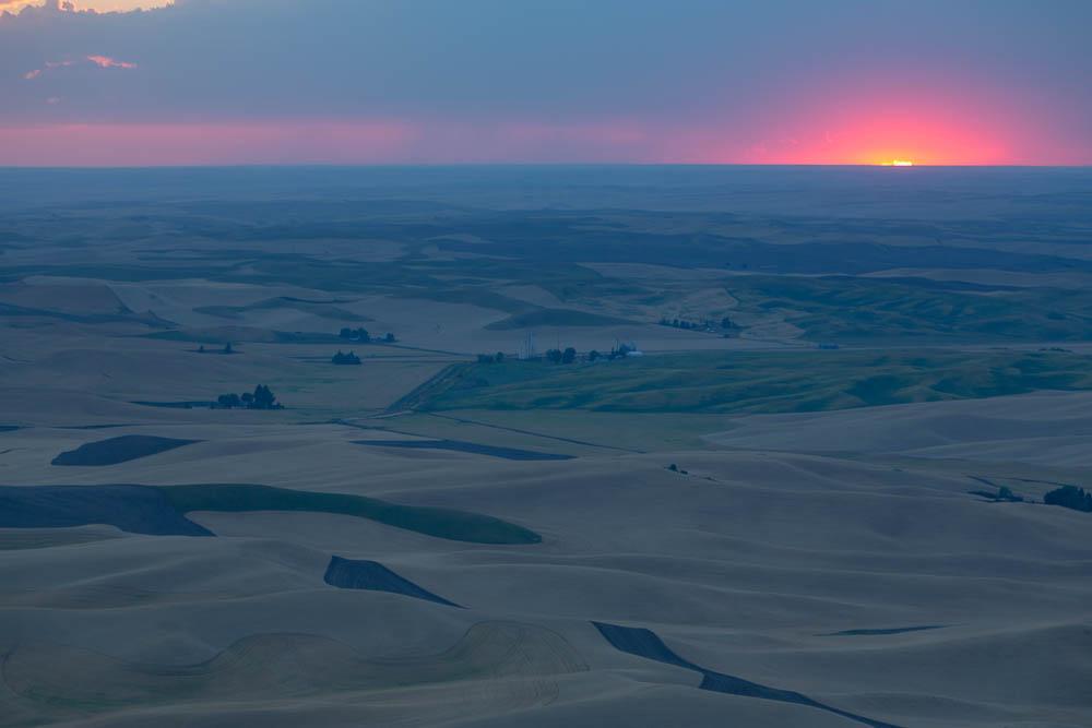 Sunset from Steptoe Butte, Whitman, WA