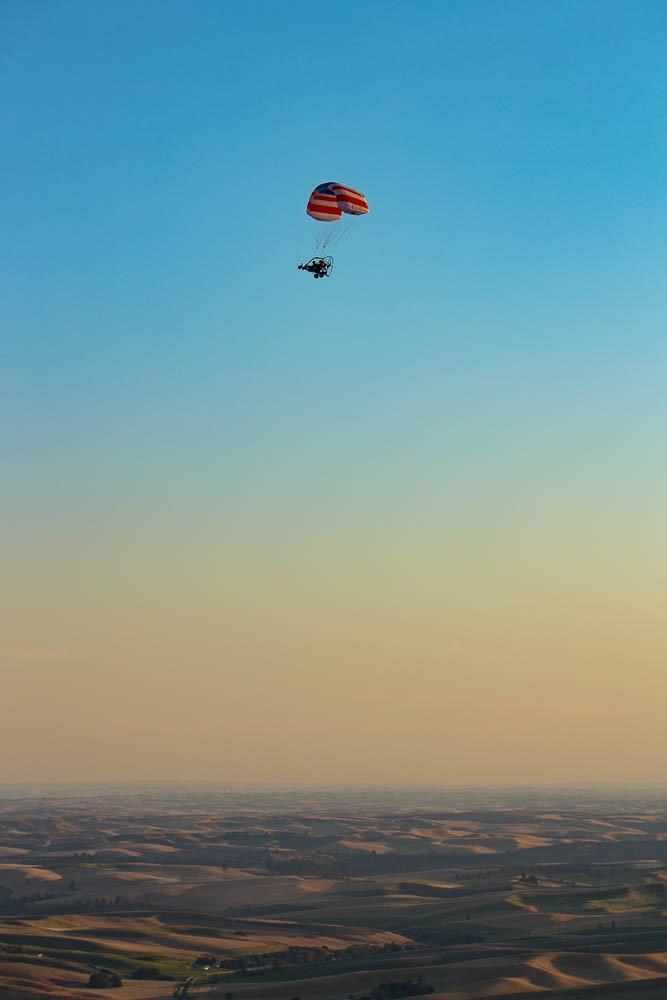 Powered parachute over the Palouse, Whitman, WA