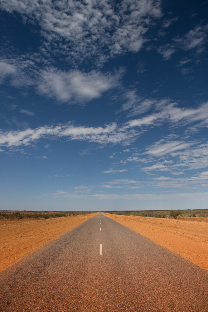 Road to nowhere, central Australia