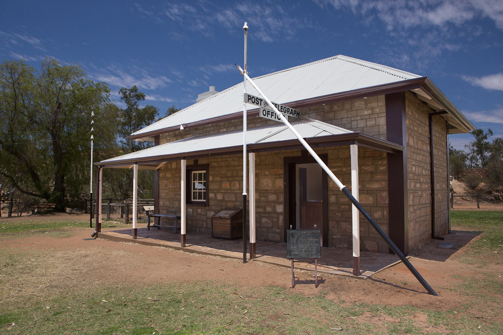 The old telegraph station, Alice Springs